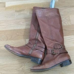 Nine West Sassy Franr Round Toe Riding Boot